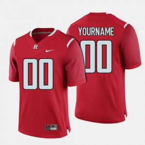 #00 Red Rutgers Customized Jerseys Men's College Football 305880-672