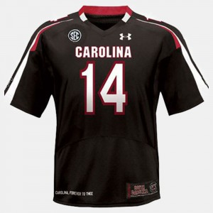 Youth(Kids) Black College Football #14 Connor Shaw South Carolina Jersey 934319-281