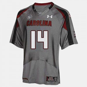 Gray #14 For Men's Connor Shaw South Carolina Jersey College Football 925198-990