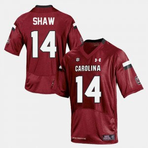 Red For Men's #14 Connor Shaw South Carolina Jersey College Football 667225-389