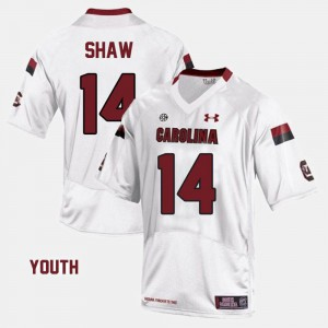 White College Football #14 Kids Connor Shaw South Carolina Jersey 217852-616