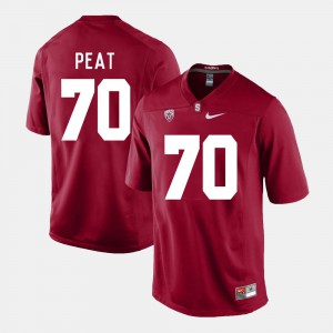 Andrus Peat Stanford Jersey #70 Cardinal College Football Men's 609024-269