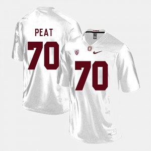 College Football White Andrus Peat Stanford Jersey Men #70 968938-176