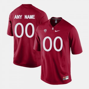 For Men's College Limited Football Cardinal #00 Stanford Customized Jersey 452637-615