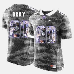 Grey For Men's High-School Pride Pictorial Limited Deante Gray TCU Jersey #20 909407-611