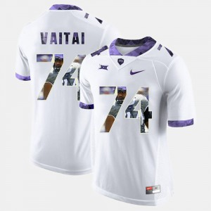 For Men's White Halapoulivaati Vaitai TCU Jersey #74 High-School Pride Pictorial Limited 297695-245
