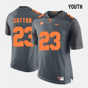 Grey Cameron Sutton UT Jersey College Football Youth(Kids) #23 806297-278