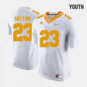 White College Football Youth #23 Cameron Sutton UT Jersey 942936-632