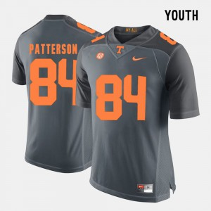 #84 Cordarrelle Patterson UT Jersey Grey Youth College Football 941992-391