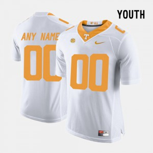 White UT Customized Jerseys For Kids College Limited Football #00 487157-613