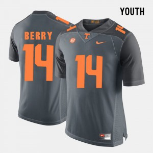 #14 College Football Youth Grey Eric Berry UT Jersey 999526-731