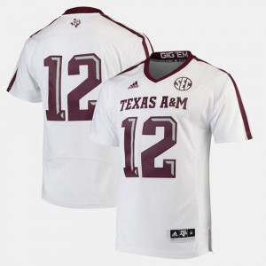 #12 2017 Special Games Texas A&M Jersey White For Men's 804731-482