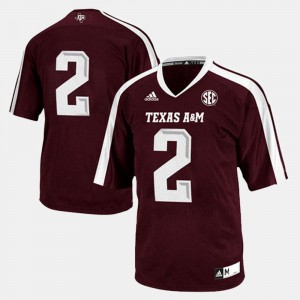 For Men's #2 Texas A&M Jersey Maroon College Football 857532-324