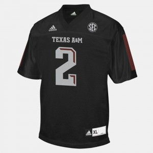 Black College Football #2 Youth Johnny Manziel Texas A&M Jersey 389216-186