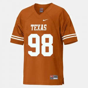 College Football Brian Orakpo Texas Jersey Youth #98 Orange 525084-207
