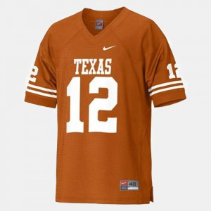 Youth(Kids) Colt McCoy Texas Jersey College Football Orange #12 431648-123