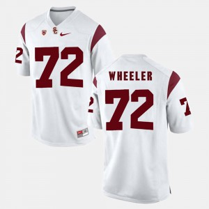 Mens White #72 Chad Wheeler USC Jersey Pac-12 Game 700676-683
