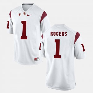 For Men's Darreus Rogers USC Jersey #1 White Pac-12 Game 318740-979