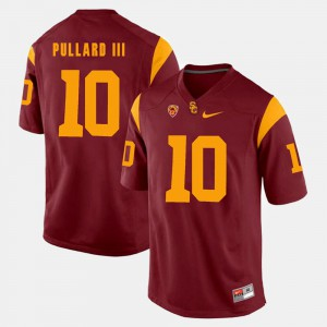 For Men Pac-12 Game #10 Red Hayes Pullard III USC Jersey 829779-190