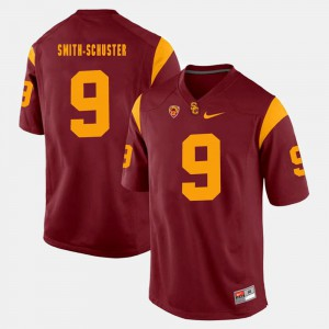 Red JuJu Smith-Schuster USC Jersey #9 Pac-12 Game For Men 328558-977