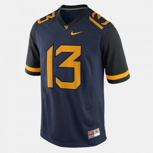 #13 Andrew Buie WVU Jersey College Football Mens Blue 857781-417