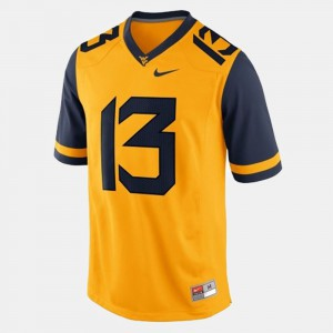#13 Gold For Men College Football Andrew Buie WVU Jersey 180027-163