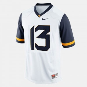 College Football #13 For Men Andrew Buie WVU Jersey White 631687-930