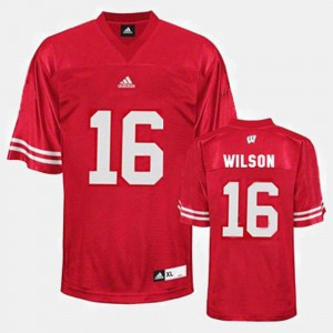 Russell Wilson Wisconsin Jersey College Football Red #16 Mens 275828-416