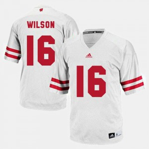 Men's White College Football Russell Wilson Wisconsin Jersey #16 154473-454