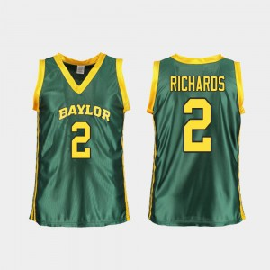 #2 College Basketball Green Replica DiDi Richards Baylor Jersey For Women 554421-854
