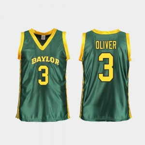 Women #3 College Basketball Green Replica Trinity Oliver Baylor Jersey 200298-379