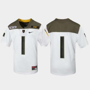 White 1st Cavalry Division Limited Edition Replica #1 Kids Army Jersey 939054-243