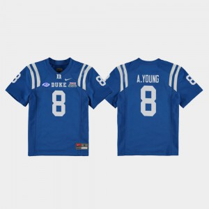 #8 Royal Youth College Football Game 2018 Independence Bowl Aaron Young Duke Jersey 674730-211