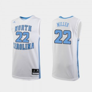 Youth Walker Miller UNC Jersey #22 Replica White College Basketball 404068-247