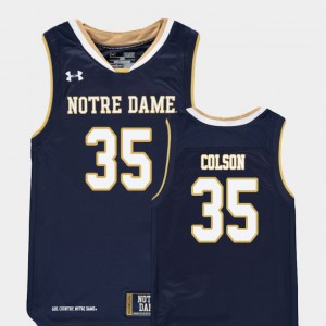 Replica Bonzie Colson Notre Dame Jersey For Kids #35 Navy College Basketball 302361-738
