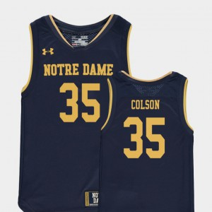 Replica College Basketball Special Games #35 Bonzie Colson Notre Dame Jersey For Kids Navy 675449-621