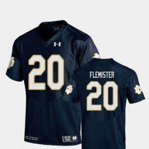 Youth(Kids) College Football Navy Replica C'Bo Flemister Notre Dame Jersey #20 954981-982