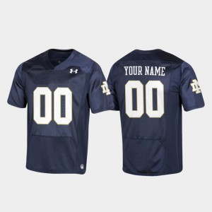 Replica Youth Football Notre Dame Customized Jersey #00 Navy 524652-515