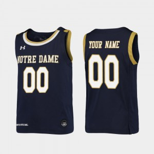 #00 Replica Notre Dame Customized Jersey Youth(Kids) Navy College Basketball 781650-299