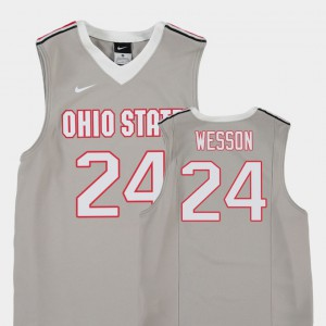 Kids Andre Wesson OSU Jersey Gray College Basketball #24 Replica 130424-786