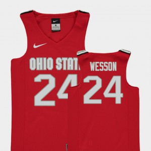 Andre Wesson OSU Jersey Replica Youth(Kids) #24 Red College Basketball 140885-398