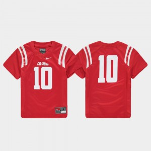 Ole Miss Jersey Replica Football Red For Kids #10 196834-675