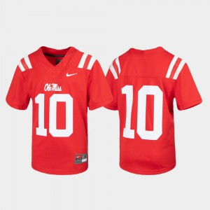Red Football Ole Miss Jersey Untouchable #10 Youth(Kids) 425299-628