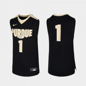 Youth #1 College Basketball Replica Purdue Jersey Black 509693-307