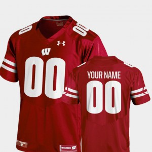 Red Wisconsin Customized Jerseys 2018 Replica College Football #00 Youth(Kids) 665723-111
